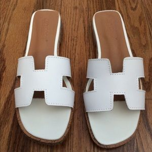 Brand new white sandals size 7